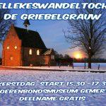Doe mee aan de Kapellekeswandeltocht in de Griebelgrauw 2016
